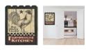 "Trendy Decor 4U Farmhouse Kitchen by Linda Spivey, Printed Wall Art on a Wood Picket Fence, 16"" x 20"""