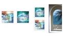 "Trendy Decor 4U Mermaid's 2-Piece Vignette by Bluebird Barn, White Frame, 15"" x 15"""