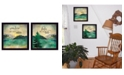 """Trendy Decor 4U The Lake is Calling Collection By Marla Rae, Printed Wall Art, Ready to hang, Black Frame, 28"""" x 14"""""""