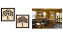 """Trendy Decor 4U Family Trees Collection By Debbie Strain, Printed Wall Art, Ready to hang, Black Frame, 28"""" x 14"""""""