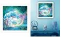 "Trendy Decor 4U Trendy Decor 4U Woodland Cove Mermaid by Bluebird Barn, Ready to hang Framed Print, White Frame, 14"" x 14"""