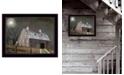 "Trendy Decor 4U Midnight Moon by Billy Jacobs, Ready to hang Framed Print, Black Frame, 26"" x 20"""