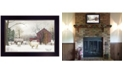 """Trendy Decor 4U Winter Coat sheep by Billy Jacobs, Ready to hang Framed Print, Black Frame, 20"""" x 14"""""""