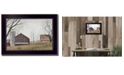 """Trendy Decor 4U Mail Pouch Barn By Billy Jacobs, Printed Wall Art, Ready to hang, Black Frame, 14"""" x 10"""""""