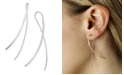 Macy's Cross Over Wire Sweep Earrings Set in 14k White, Yellow or Rose Gold