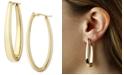Macy's Oval Oblong Hoop Earrings Set in 14k Yellow Gold