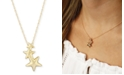 Macy's Triple Star Crawler Necklace Set in 14k Gold