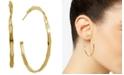 """Essentials Twisted Skinny Medium Hoop Earrings, 2"""""""