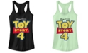 Disney Pixar Juniors' Toy Story 4 Full Color Logo Ideal Racerback Tank Top
