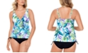 Swim Solutions Printed Tankini Top & Bottoms, Created for Macy's