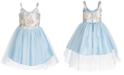Pink & Violet Little Girls Brocade & Tulle Ballerina Dress