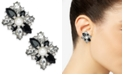 Charter Club Silver-Tone Crystal, Stone & Imitation Pearl Cluster Stud Earrings, Created For Macy's