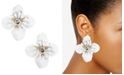 INC International Concepts INC Gold-Tone Crystal Flower Stud Earrings, Created For Macy's