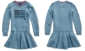 Polo Ralph Lauren Little Girls Intarsia-Flag Cotton Dress