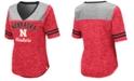Colosseum Women's Nebraska Cornhuskers Mr Big V-neck T-Shirt