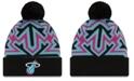 New Era Miami Heat Big Flake Pom Knit Hat