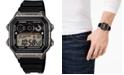 Casio Men's Digital Black Resin Strap Watch 42.1mm