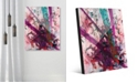 "Creative Gallery Higgs Boson Magenta Abstract 24"" x 36"" Acrylic Wall Art Print"