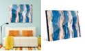 "Creative Gallery Zimba on Blue Abstract 24"" x 36"" Acrylic Wall Art Print"