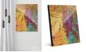 "Creative Gallery Sunset Beach Tanning on Yellow Abstract 20"" x 24"" Acrylic Wall Art Print"