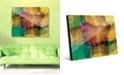 "Creative Gallery Quadretto Scozesein Yellow Abstract 16"" x 20"" Acrylic Wall Art Print"