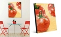 """Creative Gallery Painted Tomatoes on Yellow 20"""" x 24"""" Acrylic Wall Art Print"""
