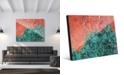 "Creative Gallery Splotch Teal Green Rust Abstract 20"" x 24"" Acrylic Wall Art Print"