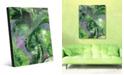 Creative Gallery Wild Crane on Geeen Abstract Acrylic Wall Art Print Collection