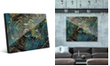 Creative Gallery Encrusted Industrial Onlooker in Canary Abstract Acrylic Wall Art Print Collection