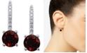 Macy's Rhodolite Garnet (1-3/4 ct. t.w.) & Diamond (1/10 ct. t.w.) Drop Earrings in 14k White Gold