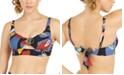 Bar III Printed Keyhole Bikini Top, Created for Macy's