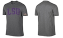 Retro Brand Men's LSU Tigers Oversized Arch Dual Blend T-Shirt
