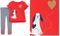 Carter's Toddler Girls 2-Pc. Glitter Dog T-Shirt & Striped Leggings Set