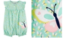Carter's Baby Girls Butterfly-Print Cotton Romper
