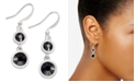 Charter Club Silver-Tone Crystal Double Drop Earrings, Created For Macy's