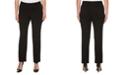 Rafaella Women's Curvy Fit Gabardine Slim Leg Pant- Short Inseam