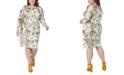 Maree Pour Toi Plus Size Metallic Lace Sheath Dress