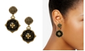 Patricia Nash Gold-Tone Black Agate Rue De Rivoli Drop Earrings