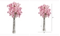 Nearly Natural 37in. Cherry Blossom Artificial Arrangement in Glass Vase