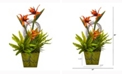 Nearly Natural 20in. Tropical and Succulent Artificial Arrangement in Green Vase