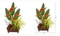 Nearly Natural 28in. Bird of Paradise, Succulent and Fern Artificial Plant in Decorative Planter