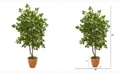 Nearly Natural 53in. Oak Artificial Tree in Terracotta Planter