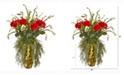 Nearly Natural 25in. Rose Artificial Arrangement in Designer Gold Vase