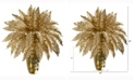Nearly Natural 19in. Golden Boston Fern Artificial Plant in Gold Planter