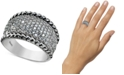 Macy's Cubic Zirconia Pavé Statement Ring in Sterling Silver