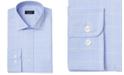 Club Room Men's Classic/Regular Fit Stretch Small Glen Plaid Dress Shirt, Created For Macy's