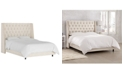 Skyline Nail Button Tufted Wingback Bed - Cal King