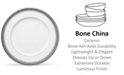 "Noritake Summit Platinum Dinner Plate, 10-3/4"""