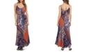 Karen Kane Patchwork-Print Belted Dress