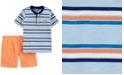 Carter's Baby Boys 2-Pc. Cotton Striped Henley T-Shirt & Poplin Shorts Set